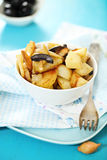 Potato salad with olives, onion Royalty Free Stock Images