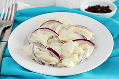 Potato salad with onion Royalty Free Stock Images