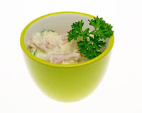 Potato salad with parsley Stock Photography