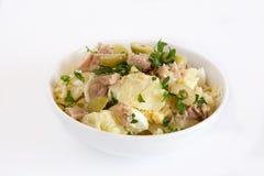 Potato salad. With egg and mayonnaise sauce stock photo
