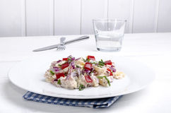 Potato salad with bell pepper Royalty Free Stock Images
