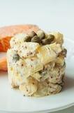Potato salad with salmon Royalty Free Stock Photography