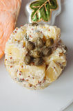 Potato salad with salmon Stock Images