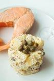 Potato salad with salmon Stock Photography