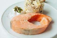 Potato salad with salmon Stock Image