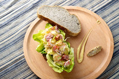 Potato Salad Sandwich Stock Image