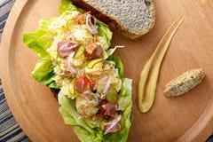 Potato Salad Sandwich Royalty Free Stock Image
