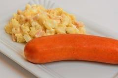 Potato salad with sausage Stock Image