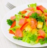 Potato salad with smoked salmon Royalty Free Stock Photography
