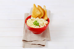 Potato salad with toasts Stock Image
