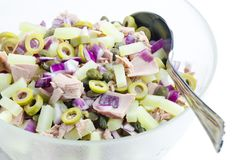 Potato salad with tuna fish Royalty Free Stock Photo