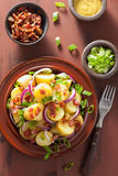 Potato Salad With Bacon Onion Mustard Stock Photos