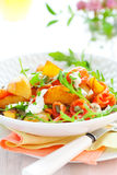 Potato Salad With Smoked Salmon Stock Images