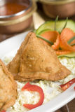 Potato samosa, indian food Royalty Free Stock Image