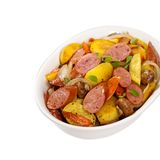 Potato and Sausage Dinner Stock Photo