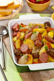 Potato and Sausage Dinner Royalty Free Stock Photo