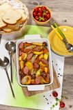 Potato and Sausage Dinner Stock Photo