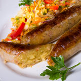 Potato sausage from grated potatoes and pork. Stock Image
