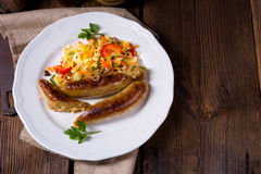 Potato sausage from grated potatoes and pork. Stock Photography