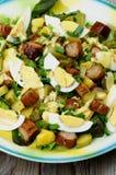 Potato and Sausage Salad Stock Photo