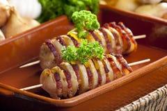 Potato skewers Stock Photo