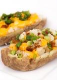Potato skin stuffed Stock Photography