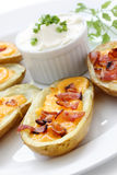 Potato skins , appetizer Stock Photo