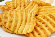 Potato slices in grid cut Stock Photography