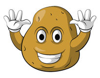 Potato Smile Character Royalty Free Stock Photos