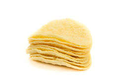Potato snack chip isolated. Snack chip isolated on white background Stock Photo