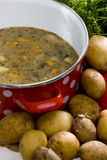 Potato soup Stock Images