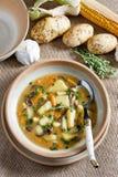 Potato soup. Still life of potato soup stock photo
