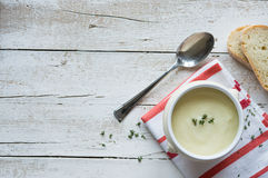 Potato soup background Stock Images