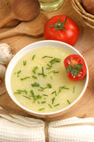 potato soup in a  bowl with tomatoes Royalty Free Stock Photography