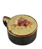 Potato Soup With Cheese And Bacon Royalty Free Stock Photo