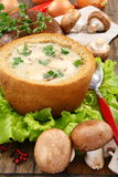 Potato soup with mushrooms. Royalty Free Stock Photos