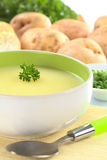 Potato Soup with Parsley Royalty Free Stock Photo