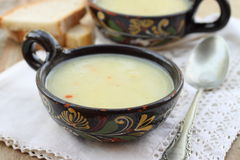 Potato soup with tarragon Royalty Free Stock Images