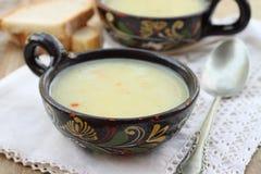 Potato soup with tarragon. Delicious potato soup with tarragon royalty free stock images