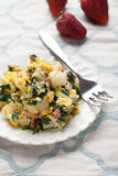 Potato Spinach Egg Scrambler with fork Royalty Free Stock Photo