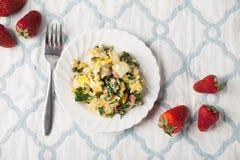 Potato Spinach Egg Scrambler horizontal shot Stock Image