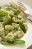 Potato and Spinach Gnocchi with Sage Butter royalty free stock photos