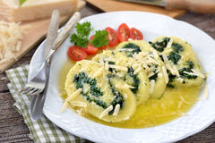 Potato spinach roulade Royalty Free Stock Photography