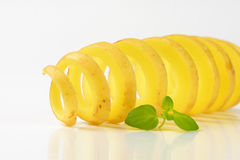 Potato spiral Stock Image