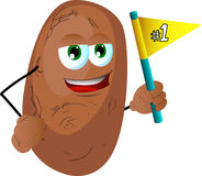 Potato sports fan with flag Stock Image