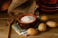 Free Potato Starch In Terracotta Bowl Stock Images - 92822544
