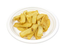 Potato steak fries on paper plate Stock Image