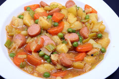 Potato stew with beans Stock Photography