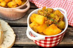 Potato stew with minced beef Stock Photography