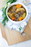 Potato stew with mushrooms Stock Photo